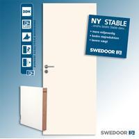 Intern kørsel (300,-) Swedoor Advance-line Stable GW 40 mm hvid 825x2040mm ~