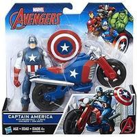 "Hasbro Marvel Avengers 6"" Captain America Figure & Vehicle C0478"