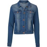 Vero Moda Long Sleeved Denim Jacket Blue/Medium Blue Denim