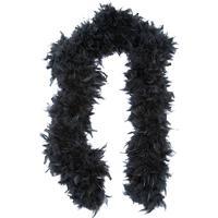 Fjäderboa svart 100 gram, Elegant svart fjäderboa som blir en extra snygg dekoration till din maskeraddräkt.