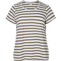 Junarose Short Sleeved Blouse White/Bright White (21005811)