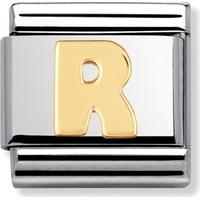 thbaker Nomination Letters R Stainless Steel Charm - 0.8 (030101/18)