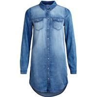 Vila Denim Dress Blue/Medium Blue Denim