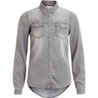 Vila Vibista Denim Shirt Grey/Grey Denim (14033008)