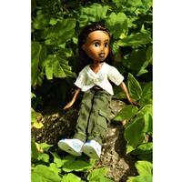 Håndmalet dukke - Savana