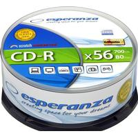 Esperanza CD-R Silver 700MB 56x Spindle 25-Pack