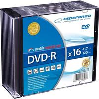 Esperanza DVD-R 4.7GB 16x Slimcase 10-Pack