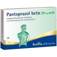 PANTOPRAZOL beta 20 mg acid magensaftres.Tabletten