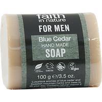 Big Green Smile For Men Blue Cedar Bar Soap 100g