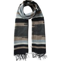 Pieces Long Patterned Scarf Beige/Ginger Snap (17083038)