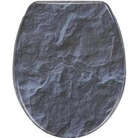 Wenko Toilettensitz Slate Rock