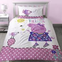 Peppa Pig Childrens/Girls Official Little Things Reversible Duvet Cover Bedding Set
