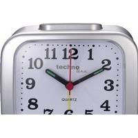 Quarz Vækkeur Techno Line Model XL silber Sølv Alarmtider 1
