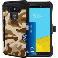 Beyond Cell Shell Case Rugged Kombo Card Metallic Look Camouflage (LG G5)