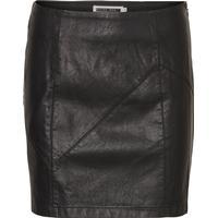 Noisy May Leather-Look Skirt Black/Black