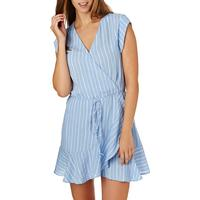 The Hidden Way Women's The Hidden Way Dresses - The Hidden Way Esme Flounce Dress - Blue Stripe