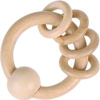 Goki Touch Ring with 4 Rings Natural Wood 730800