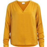 Vila V neck Long Sleeved Top Yellow/Nugget Gold (14043501)