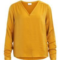 Vila V neck Long Sleeved Top Yellow/Nugget Gold