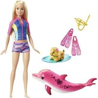 Mattel Barbie Dolphin Magic Snorkel Fun Friends