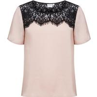 Junarose Lace Detailed Short Sleeved Blouse Red/Mahogany Rose (21006897)