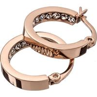 Edblad Monaco Mini Stainless Steel Rose Gold Plated Earrings w. Transparent Cubic Zirconium - 1.7cm (78900)