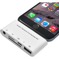 5-i-1 HUB/Adapter till iPhone, iPad, iPod