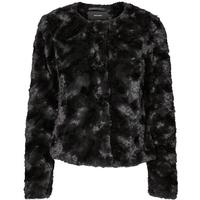Vero Moda Short Faux Fur Jacket Black/Black Beauty (10132712)