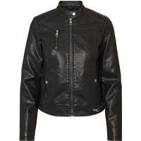 Vero Moda Short Leather-look Jacket Black/Black (10183773)