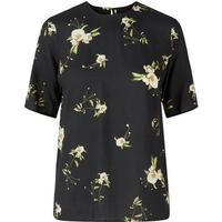 Y.A.S Floral Anemone T-shirt Black/Black (26009392)