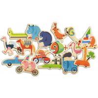 "Djeco magneter dyr på vej ""vroumbazar"