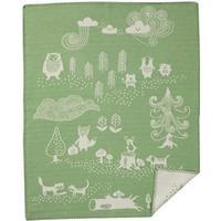 Klippan Yllefabrik Little bear grön Barnfilt i bomull
