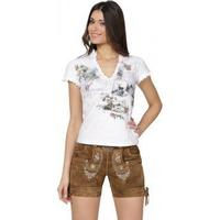 Stockerpoint Traditional leather pants short Elfi lightbrown