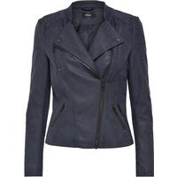 Only Leather Look Jacket Blue/Dark Navy (15102997)