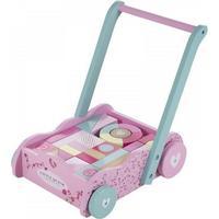 Little Dutch Baby Walker Wooden Blocks Pink Blossom