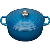 Le Creuset Marseille Blue Signature Cast Iron Round Topf 20cm