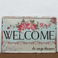 Emaljeskilt Welcome to my home