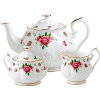Royal Albert New Country Roses White Tea Set 3 stk