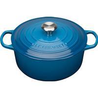 Le Creuset Marseille Blue Signature Cast Iron Round Topf 26cm