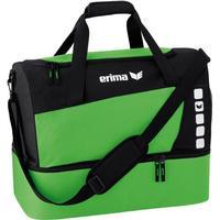 Erima Club 5 Sporttasche mit Bodenfach Größe M grün/schwarz