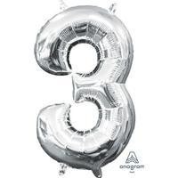 Amscan Ballons Silver 1 stk