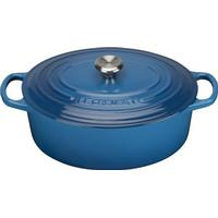 Le Creuset Marseille Blue Signature Cast Iron Oval Topf 27cm