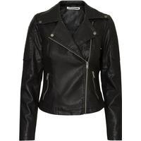 Noisy May Leather Look Jacket Black/Black (27000741)