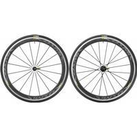 Mavic Cosmic Pro Carbon - Clincher hjulsæt inkl. dæk - Sram/Shimano - Sort - 700x25c