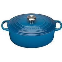 Le Creuset Marseille Blue Signature Cast Iron Oval Topf 31cm
