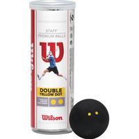 Wilson Staff Squash 3 Ball Double Yellow Dot
