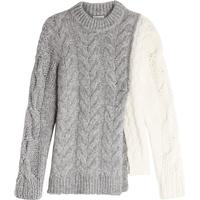 Moncler Two-Tone Pullover with Wool, Alpaca and Mohair