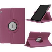 """Huawei MediaPad T3 10"""" - Läder fodral Litchi skin vikbart - Lila"""