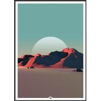 Incado Low Poly Mountain 8 50x70cm Plakater