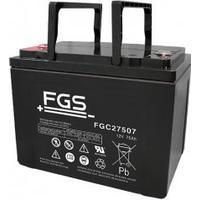 FGS Batteri til Shoprider Scooter FlagShip,Sprinter JumboXL,Sprinter XL4&XL3,Sprinter XL4 Deluxe (FGC27507) 12V 75Ah AGM